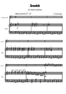 Tarantella: Für Klarinette und Klavier by Vladimir Solonskiy