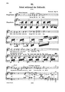 Gebet während der Schlacht, D.171: Für hohe Stimme und Klavier by Franz Schubert