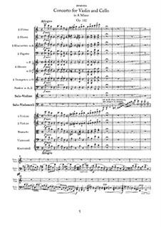 Konzert für Violine, Cello und Orchester in a-Moll, Op.102: Teil I by Johannes Brahms