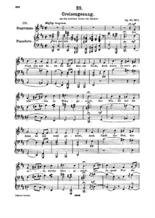 Greisengesang, D.778 Op.60 No.1: Für hohe Stimme und Klavier by Franz Schubert