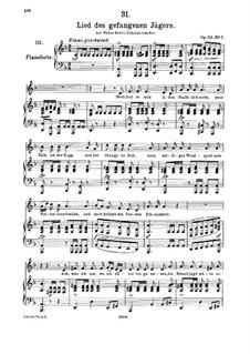 Lied des gefangenen Jägers, D.843 Op.52 No.7: Für hohe Stimme und Klavier by Franz Schubert
