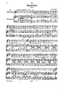 Morgenlied, D.685 Op.4 No.2: Für hohe Stimme und Klavier by Franz Schubert