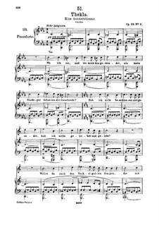 Thekla. Eine Geisterstimme, D.595 Op.88 No.2: Für hohe Stimme und Klavier by Franz Schubert