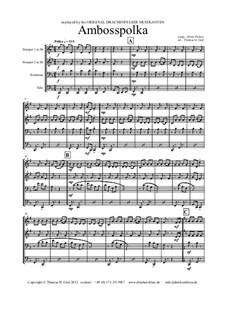 Amboss Polka: Für Blechblasquartett by Albert Parlow