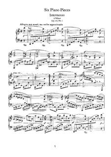Sechs Stücke, Op.118: Nr.1 Intermezzo in a-Moll by Johannes Brahms