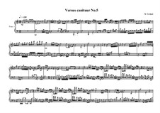 Versus canitur for piano solo 'a Glenn Gould study': Nr.5, MVWV 740 by Maurice Verheul