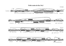 Petits contes de fées No.3 for tenor recorder, MVWV 776: Petits contes de fées No.3 for tenor recorder by Maurice Verheul