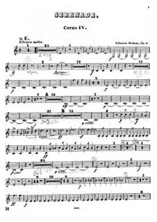 Ständchen Nr.1 in D-Dur, Op.11: Hornstimme IV by Johannes Brahms