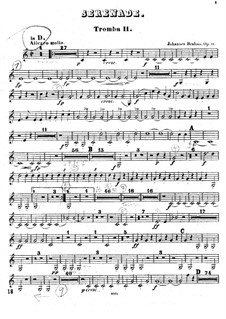 Ständchen Nr.1 in D-Dur, Op.11: Trompetenstimme II by Johannes Brahms