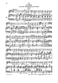Nr.5 Sitz' ich allein : Für Mittelstimme und Klavier by Robert Schumann