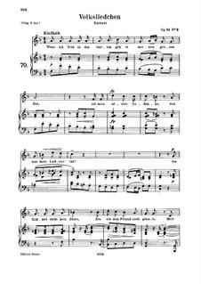 Lieder und Gesänge, Op.51: Nr.2 Volksliedchen by Robert Schumann