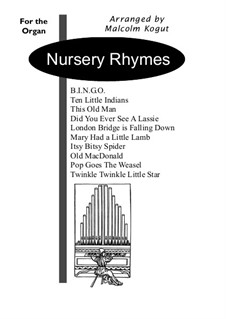 Nursery Rhymes for Organ: Nursery Rhymes for Organ by folklore