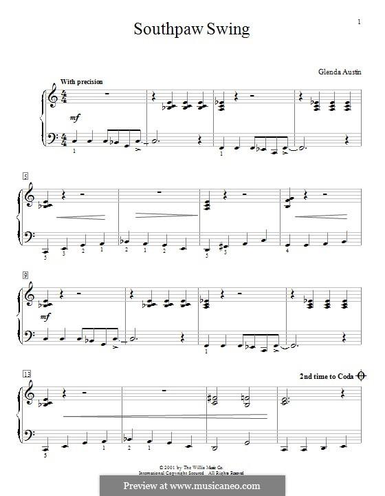 Southpaw Swing: Für Klavier by Glenda Austin