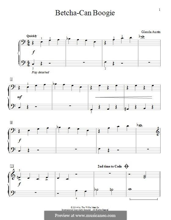 Betcha-Can Boogie: Für Klavier by Glenda Austin