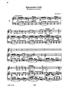 Sechs Lieder, Op.6: Nr.1 Spanisches Lied by Johannes Brahms