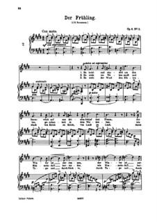 Sechs Lieder, Op.6: Nr.2 Der Frühling by Johannes Brahms