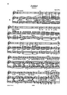 Sechs Lieder, Op.6: Nr.4 Juchhe by Johannes Brahms