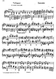 Vier Stücke: No.4 Gavotte by Sergei Rachmaninoff