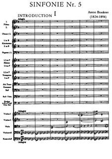 Sinfonie Nr.5 in B-Dur, WAB 105: Teil I by Anton Bruckner