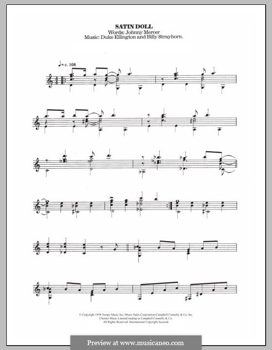 Satin Doll: Für Gitarre mit Tab by Billy Strayhorn, Duke Ellington