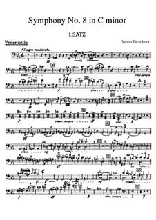 Sinfonie Nr.8 in c-Moll, WAB 108: Cellostimme by Anton Bruckner