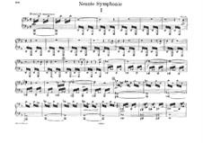 Sinfonie Nr.9 in d-Moll, WAB 109: Bearbeitung für Klavier, vierhändig by Anton Bruckner