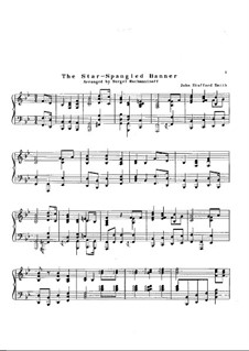 The Star Spangled Banner (National Anthem of The United States): Für Klavier by John Stafford Smith