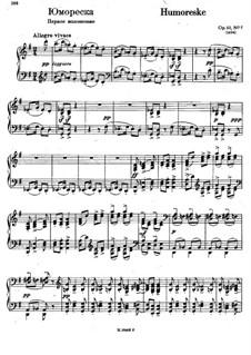 Sept Morceaux de Salon, Op.10: No.5 Humoresque (first edition) by Sergei Rachmaninoff