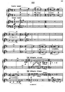Symphonic Dances, Op.45: Teil III, für zwei Klaviere, vierhändig by Sergei Rachmaninoff