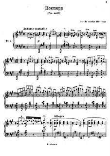 Drei Nocturnes: Nocturne in fis-Moll by Sergei Rachmaninoff