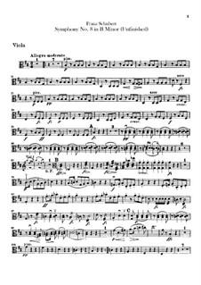 Sinfonie Nr.8 in h-Moll 'Unvollendete', D.759: Violastimme by Franz Schubert