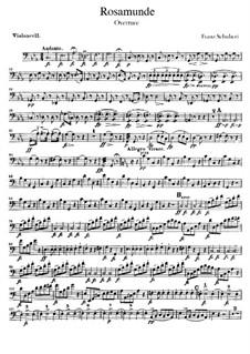 Ouvertüre: Cellostimme by Franz Schubert