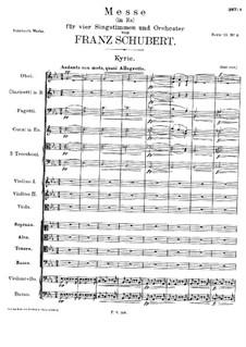 Messe Nr.6 in Es-Dur, D.950: Kyrie by Franz Schubert