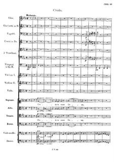 Messe Nr.6 in Es-Dur, D.950: Credo by Franz Schubert