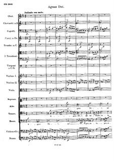 Messe Nr.6 in Es-Dur, D.950: Agnus Dei by Franz Schubert