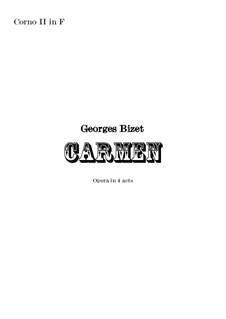 Vollständiger Oper: Orchestral french horn in F II part by Georges Bizet