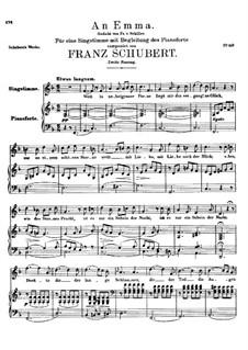 An Emma, D.113 Op.58 No.2: Zweite Fassung by Franz Schubert