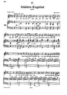 Schäfers Klagelied, D.121 Op.3 No.1: Klavierauszug mit Singstimmen by Franz Schubert