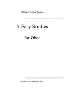 5 Easy Studies: For oboe by Allan 'Herbie' Jones
