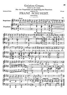Geistes-Gruss, D.142 Op.92 No.3: Erste Fassung by Franz Schubert