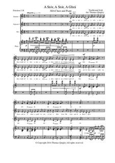 A Stór, A Stór, A Ghrá: SSA and piano by folklore