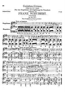 Geistes-Gruss, D.142 Op.92 No.3: Vierte Fassung by Franz Schubert