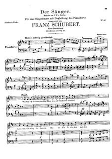 Der Sänger, D.149 Op.117: Erste Fassung by Franz Schubert