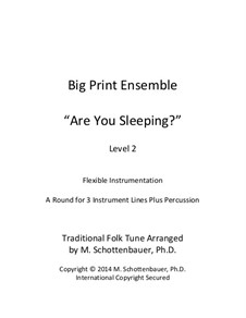 Big Print Ensemble: Level 2: Are You Sleeping? for flexible instrumentation by folklore