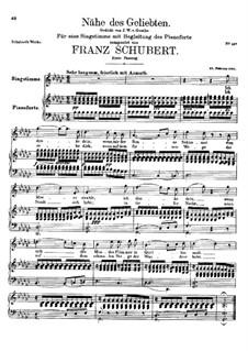 Nähe des Geliebten, D.162 Op.5 No.2: Erste Fassung by Franz Schubert