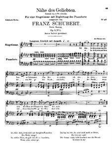 Nähe des Geliebten, D.162 Op.5 No.2: Zweite Fassung by Franz Schubert