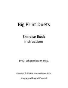 Big Print Duets: Exercises for 2 Low Bass Instruments by Michele Schottenbauer