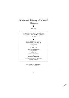 Violinkonzert Nr.5, Op.37: Partitur by Henri Vieuxtemps