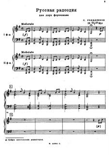 Russian Rhapsody: Für zwei Klaviere, vierhändig by Sergei Rachmaninoff