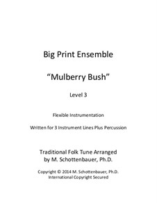 Big Print Ensemble: Level 2: Mulberry Bush for flexible instrumentation by folklore